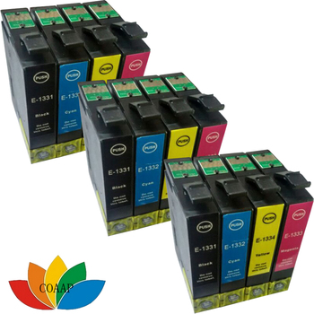 12 Pack Compatibil EPSON 133 T133 cartuș de cerneală pentru epson Workforce 320 325 435 525 TX120 Printer