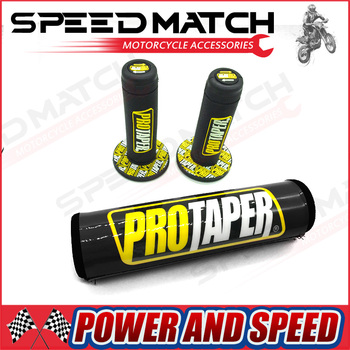 MX Dirt bike Pro Taper CRF Bar Protector Cruce Ghidon Rotund Pad & Pro Taper Mâner Mânere Colorate 66709