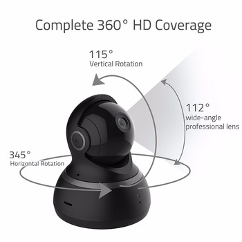 YI 1080P Dome Camera Viziune de Noapte Versiunea Internațională Pan/Tilt/Zoom IP Wireless de Supraveghere de Securitate YI Cloud Disponibile