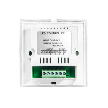 4A DC12V-24V / RGB Touch panel led-uri controler montat pe perete RGB controller touch panel